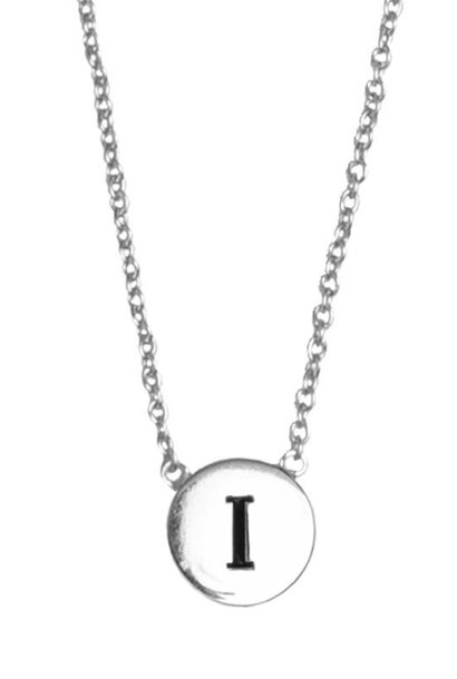 Ketting Character Necklace Letter I Silver