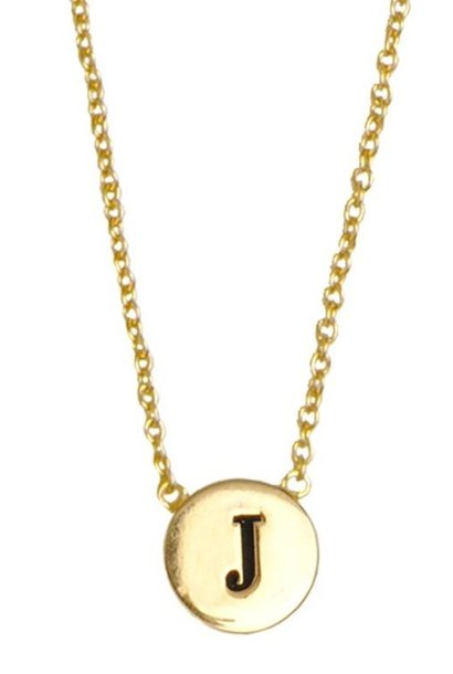 Ketting Character Necklace Letter J Gold