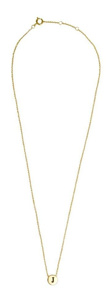 Ketting Character Necklace Letter J Gold-3
