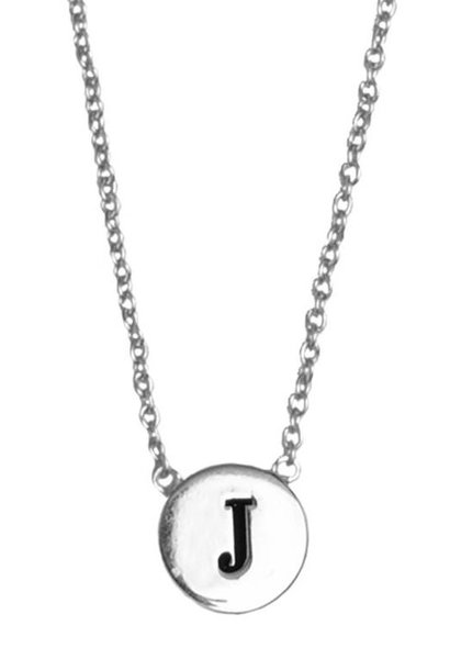 Ketting Character Necklace Letter J  Silver