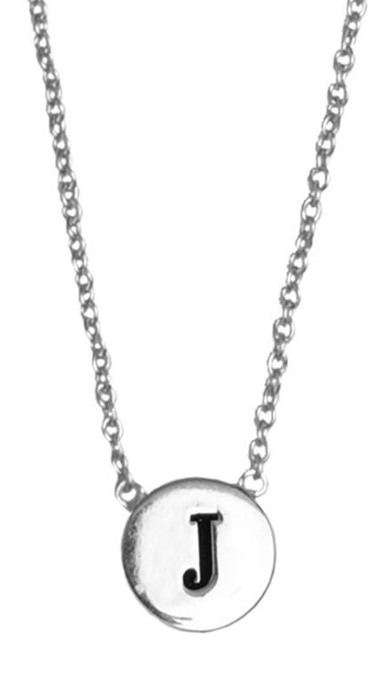 Ketting Character Necklace Letter J  Silver-1