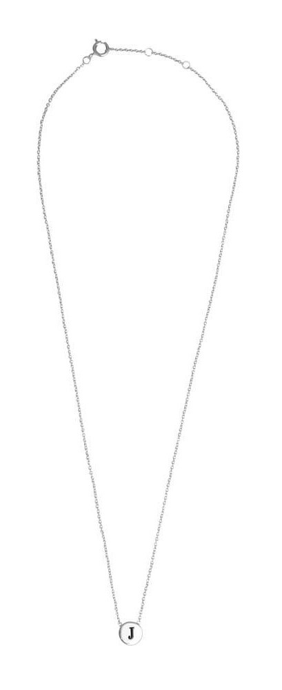 Ketting Character Necklace Letter J  Silver-3