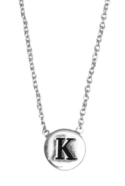 Ketting Character Necklace Letter K Silver
