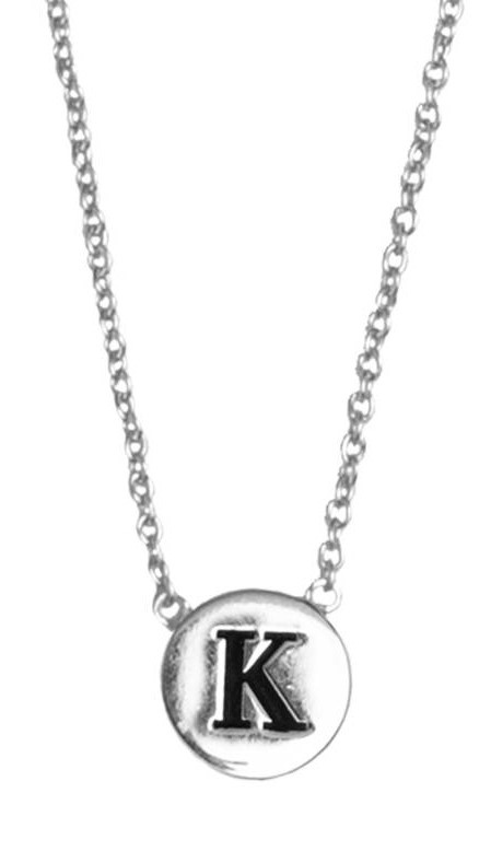 Ketting Character Necklace Letter K Silver-1