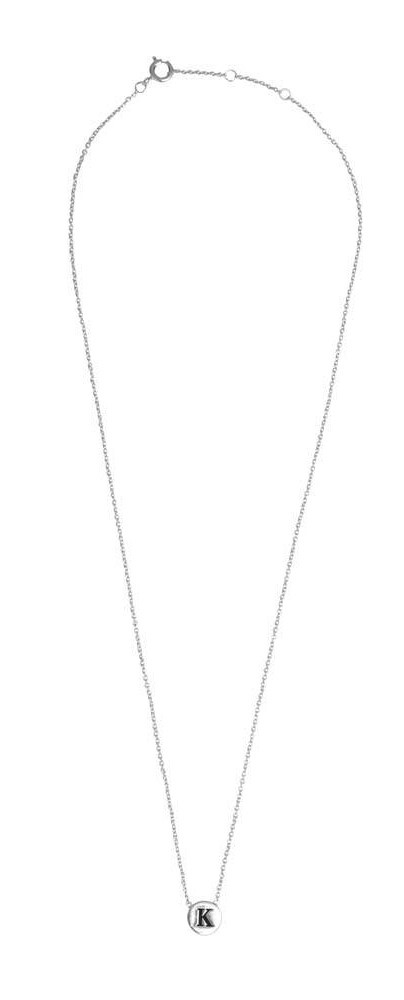 Ketting Character Necklace Letter K Silver-3