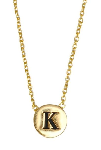Ketting Character Necklace Letter K Gold