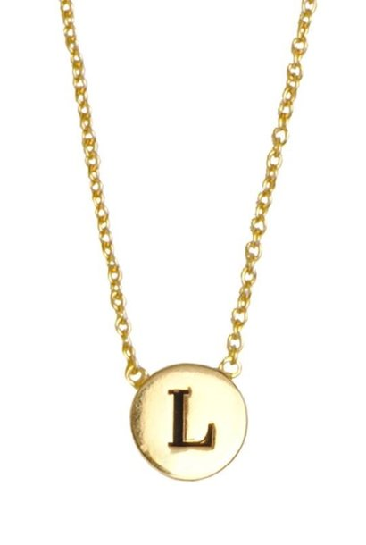 Ketting Character Necklace Letter L Gold