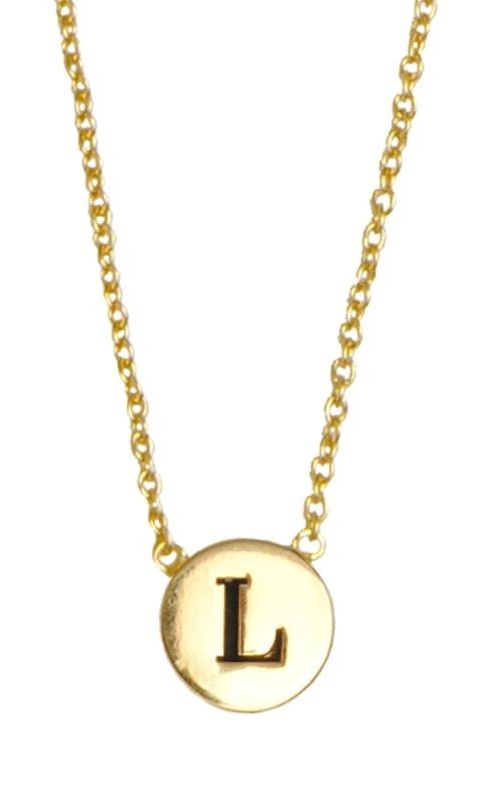 Ketting Character Necklace Letter L Gold-1