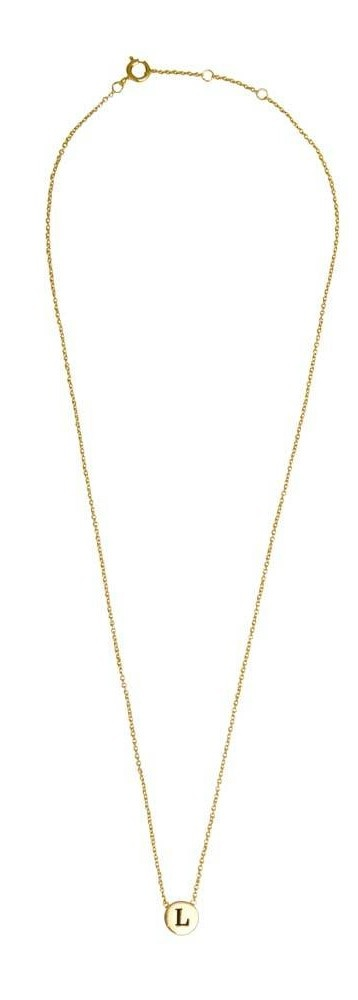 Ketting Character Necklace Letter L Gold-3