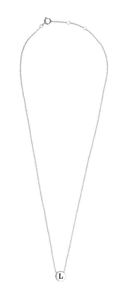 Ketting Character Necklace Letter L Silver-3