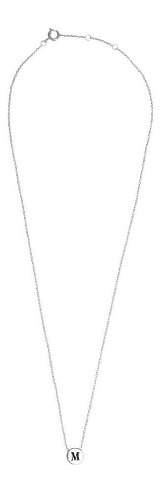 Ketting Character Necklace Letter M Silver-3