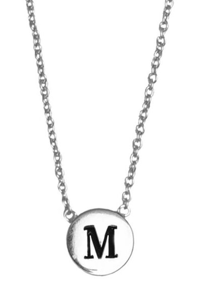 Ketting Character Necklace Letter M Silver