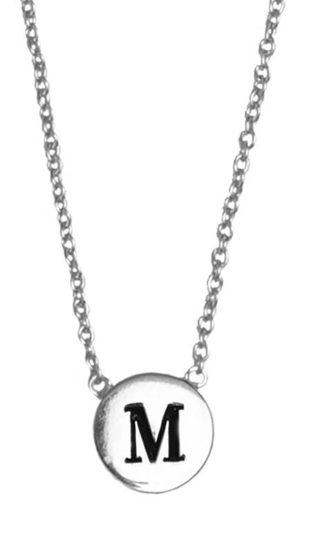 Ketting Character Necklace Letter M Silver-1