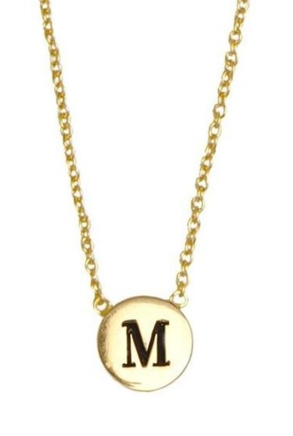 Ketting Character Necklace Letter M Gold