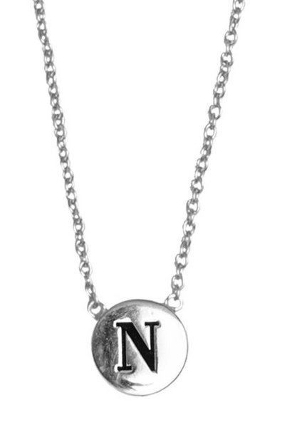 Ketting Character Necklace Letter N Silver