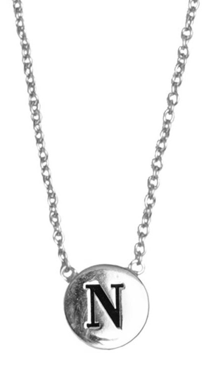 Ketting Character Necklace Letter N Silver-1