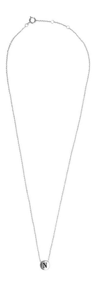 Ketting Character Necklace Letter N Silver-3