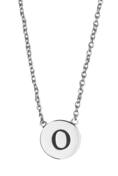 Ketting Character Necklace Letter O Silver