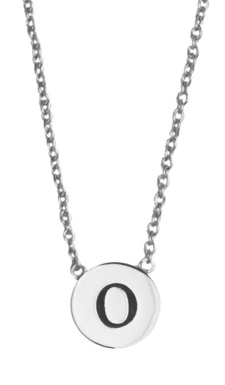 Ketting Character Necklace Letter O Silver-1