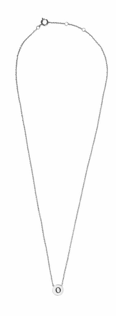 Ketting Character Necklace Letter O Silver-3
