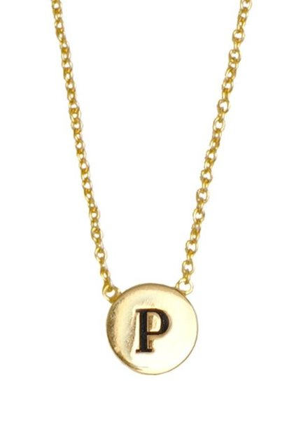 Ketting Character Necklace Letter P Gold