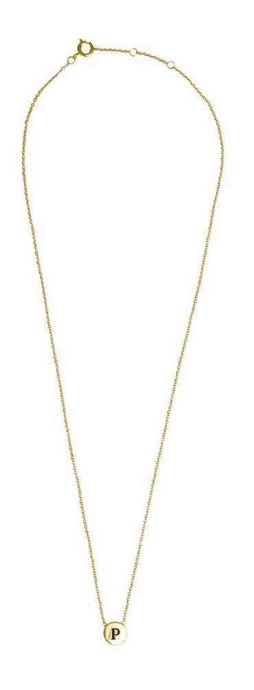 Ketting Character Necklace Letter P Gold-3