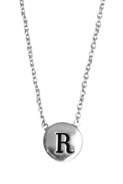 Ketting Character Necklace Letter R Silver