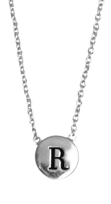 Ketting Character Necklace Letter R Silver-1