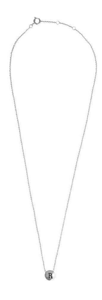 Ketting Character Necklace Letter R Silver-3