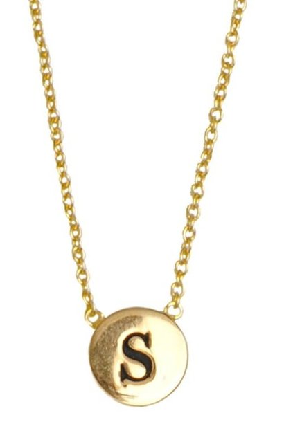 Ketting Character Necklace Letter S Gold