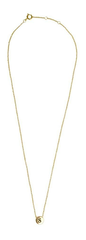 Ketting Character Necklace Letter S Gold-3