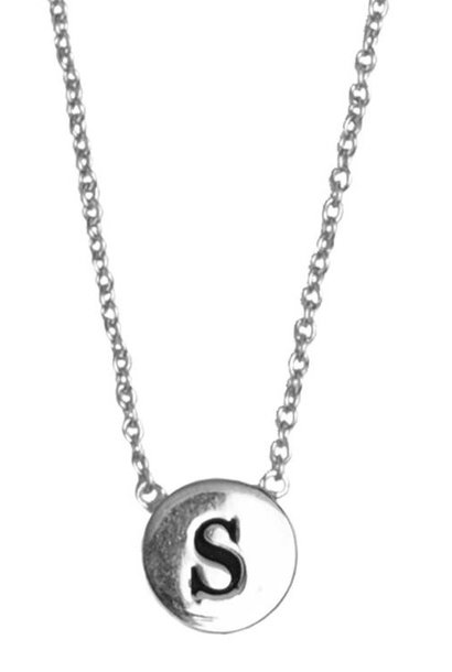 Ketting Character Necklace Letter S Silver