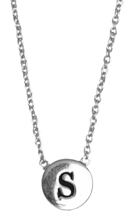Ketting Character Necklace Letter S Silver-1