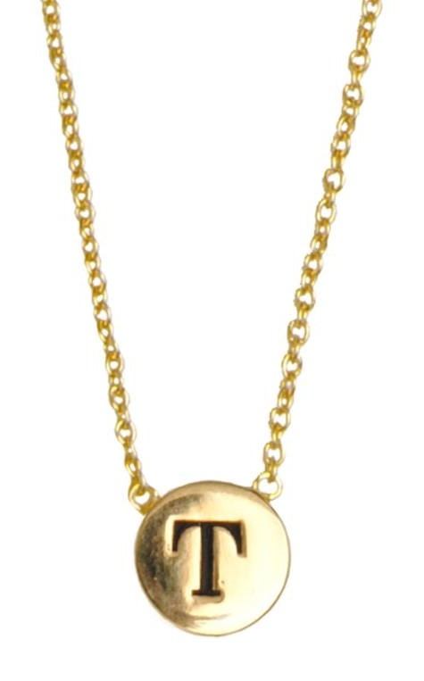 Ketting Character Necklace Letter T Gold-1