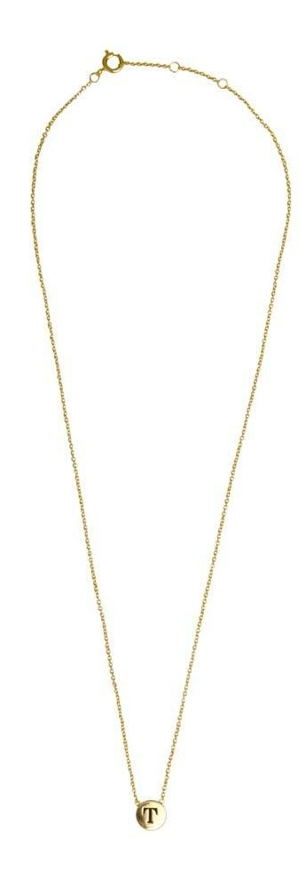 Ketting Character Necklace Letter T Gold-3
