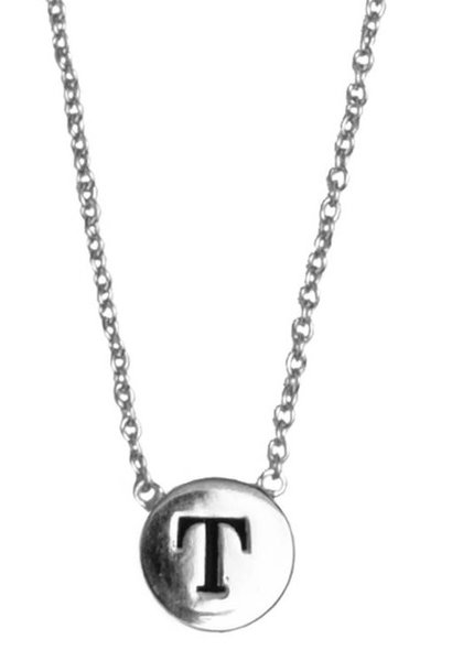Ketting Character Necklace Letter T Silver