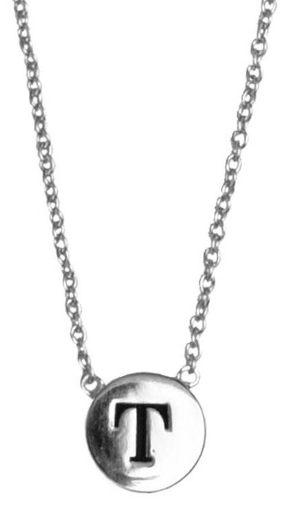 Ketting Character Necklace Letter T Silver-1