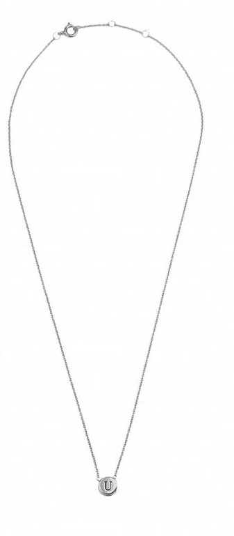 Ketting Character Necklace Letter U Silver-3