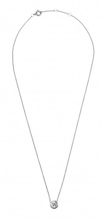 Ketting Character Necklace Letter W Silver-3