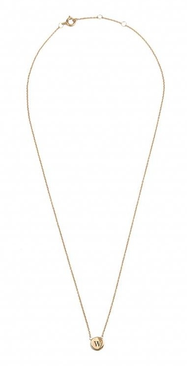 Ketting Character Necklace Letter W Gold-3