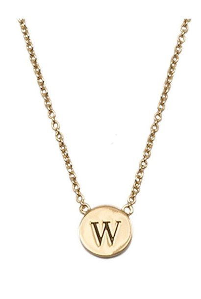Ketting Character Necklace Letter W Gold