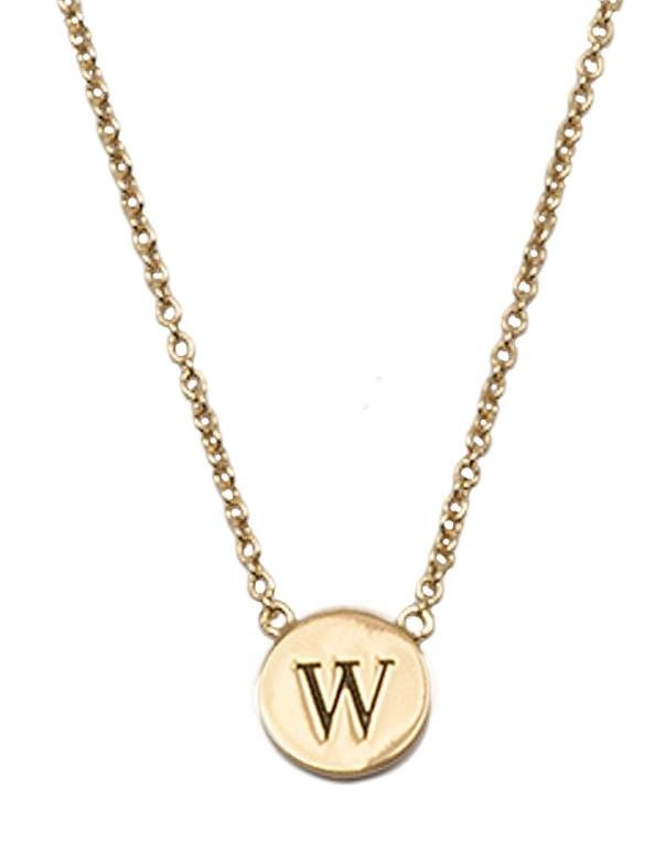 Ketting Character Necklace Letter W Gold-1