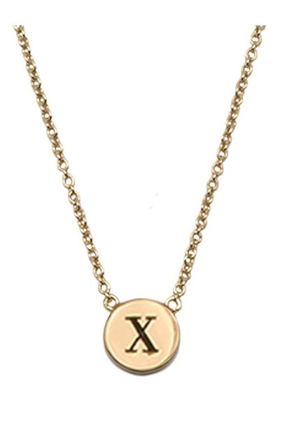 Ketting Character Necklace Letter X Gold
