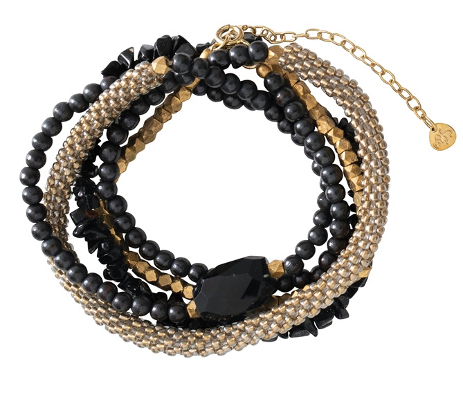 Armband Superwrap Black Onyx Gold Bracelet-1