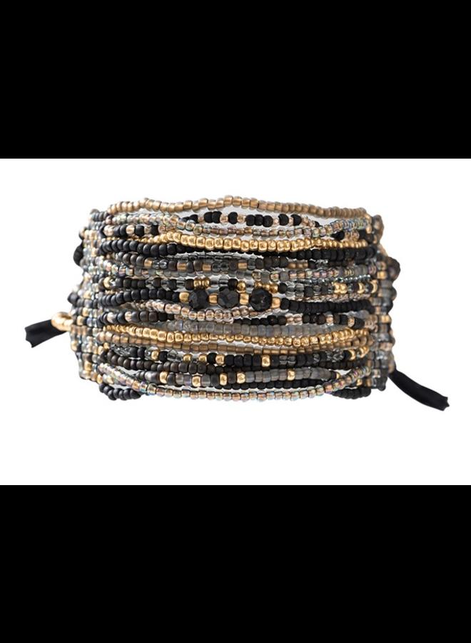 Armband Brilliant Black Onyx Gold Bracelet