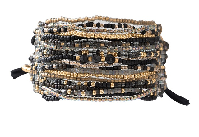 Armband Brilliant Black Onyx Gold Bracelet-1