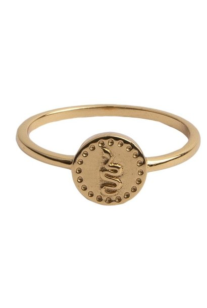 Ring Magique Ring Coin Snake Gold