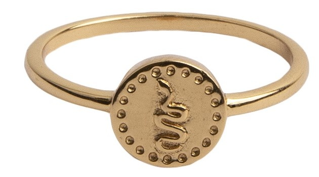 Ring Magique Ring Coin Snake Gold-1