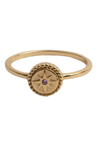 Ring Magique Ring Coin Starburst Pink gold