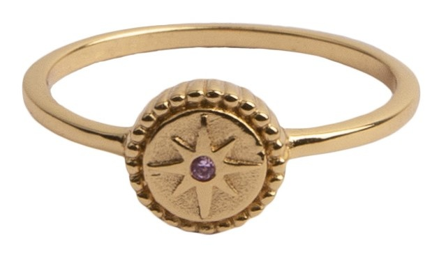 Ring Magique Ring Coin Starburst Pink gold-1